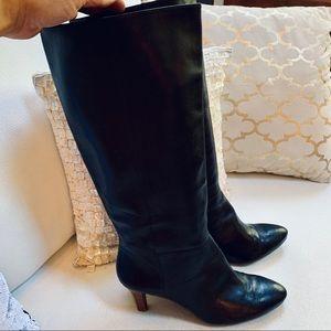 BANANA REPUBLIC Knee High Leather Heeled Boots 9.5